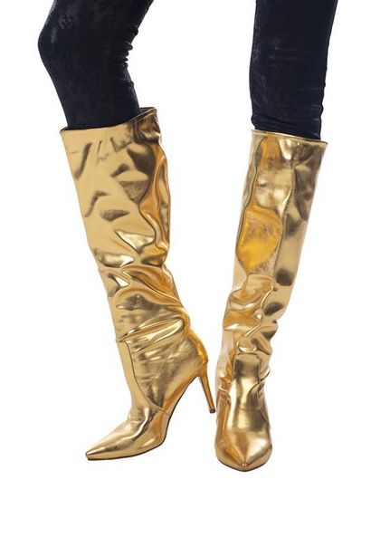 Metallic Knee High Boot offers at R 800