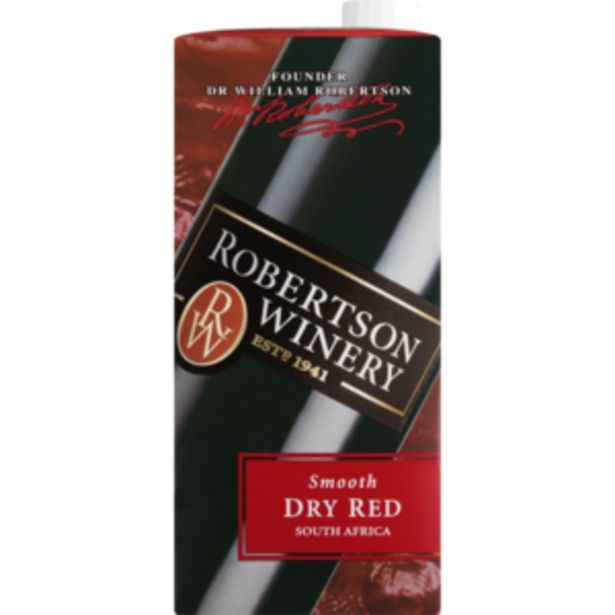 Robertson Winery Smooth Dry Red Wine Carton 1L offers at R 39,99