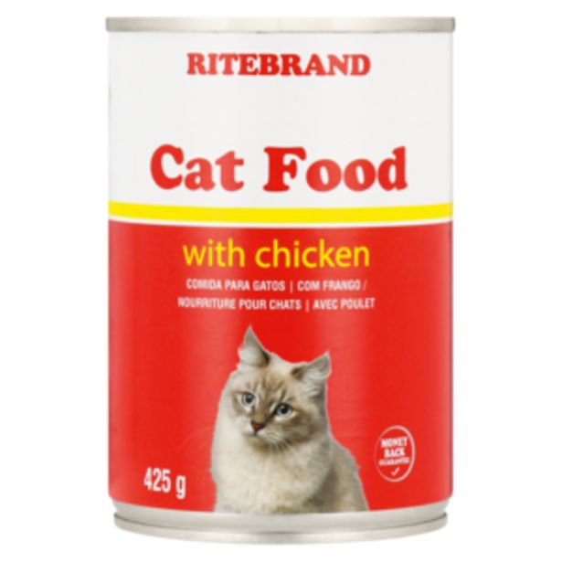 Ritebrand Cat Food With Chicken 425g offers at R 13,99