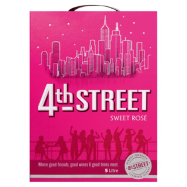 4th Street Natural Sweet Rosé Wine Box 5L offers at R 159,99