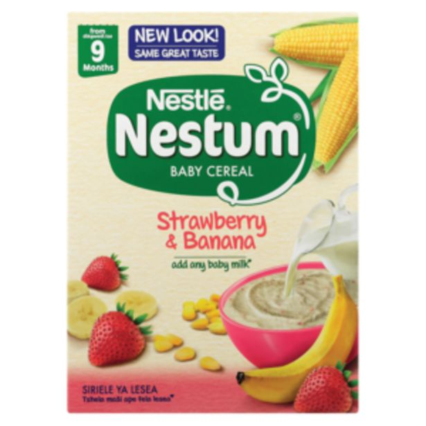 Nestlé Nestum Strawberry & Banana Baby Cereal 250g offers at R 26,99