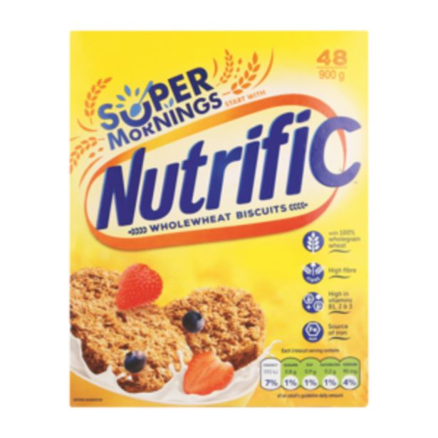 Nutrific Wholewheat Biscuits 48 Pack offers at R 49,99