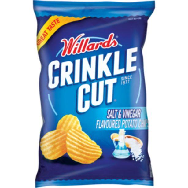 Willards Crinkles Salt & Vinegar Flavoured Potato Chips 125g offers at R 13,99
