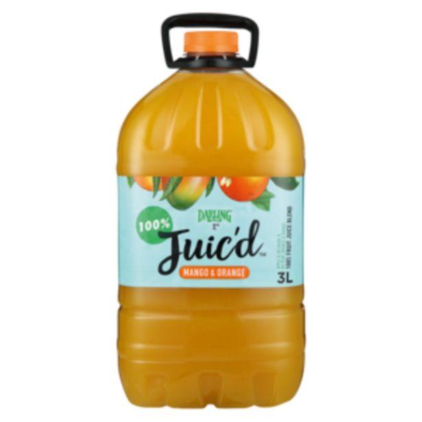 Darling Juic'd Mango & Orange Fruit Juice 3L offers at R 47,99