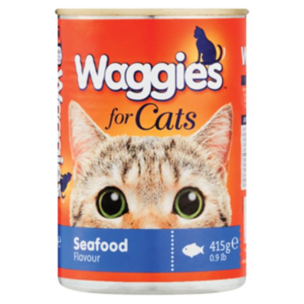 Waggies Sea Food Flavoured Cat Food 415g offers at R 16,99