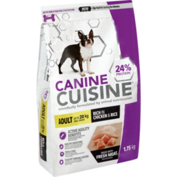 Canine Cuisine Chicken & Rice Small Adult Dog Food 1.75kg offers at R 79,99
