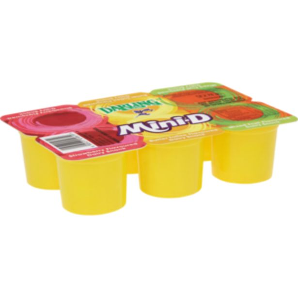 Darling Mini-D Strawberry/Butter Toffee/Mixed Fruit Multipack Yoghurt 6 x 75g offers at R 12,99