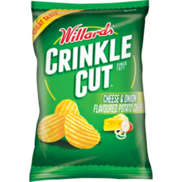 Willards Crinkles Cheese & Onion Flavoured Potato Chips 125g offers at R 13,99