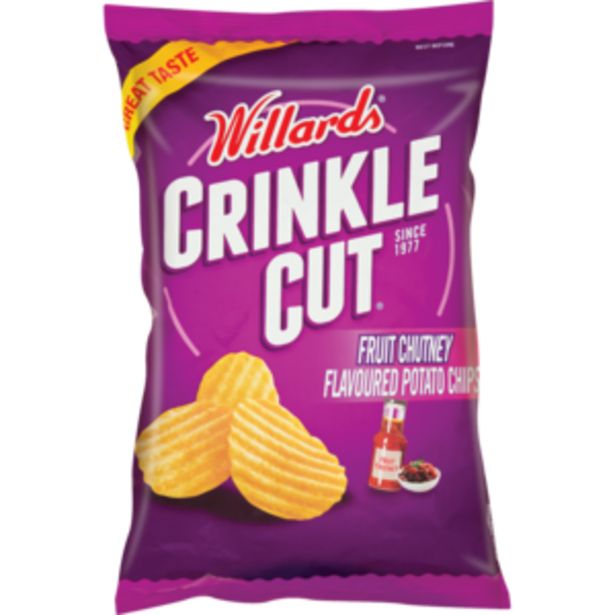 Willards Crinkles Fruit Chutney Flavoured Potato Chips 125g offers at R 13,99