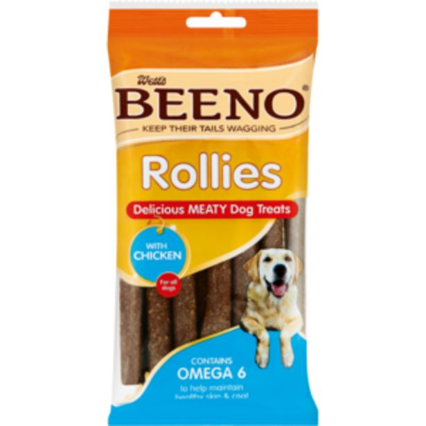 Beeno Chicken Flavoured Rollies Dog Treats 120g offers at R 24,99