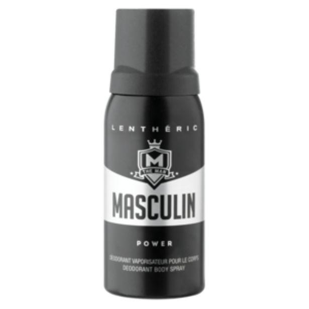 Lenthéric Mens Masculin Power Mens Body Spray Deodorant 150ml offers at R 22,99