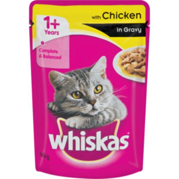 Whiskas Chicken In Gravy Cat Food 85g offers at R 9,99