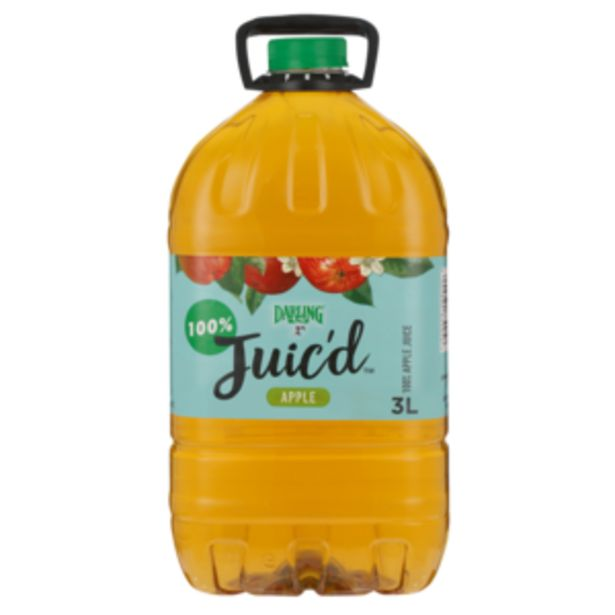 Darling Juic'd Apple Flavoured Fruit Juice 3L offers at R 47,99