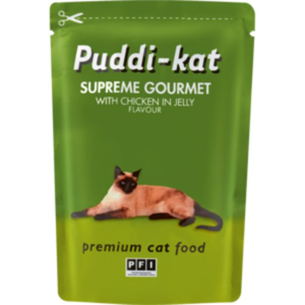 Puddi-kat Chicken Flavoured Cat Food Sachet 85g offers at R 7,99