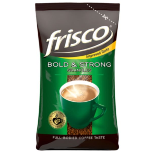 Frisco Bold & Strong Coffee Granules Pouch 100g offers at R 18,99
