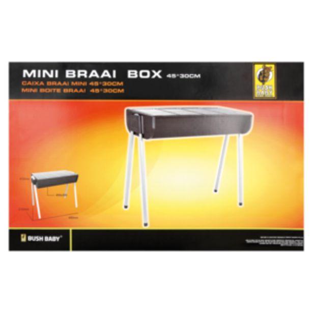 Bush Baby Mini Braai Box offers at R 199,99