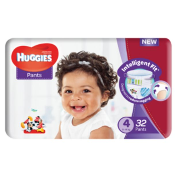 Huggies Unisex Size 4 Diaper Pants 32 Pack offers at R 119,99