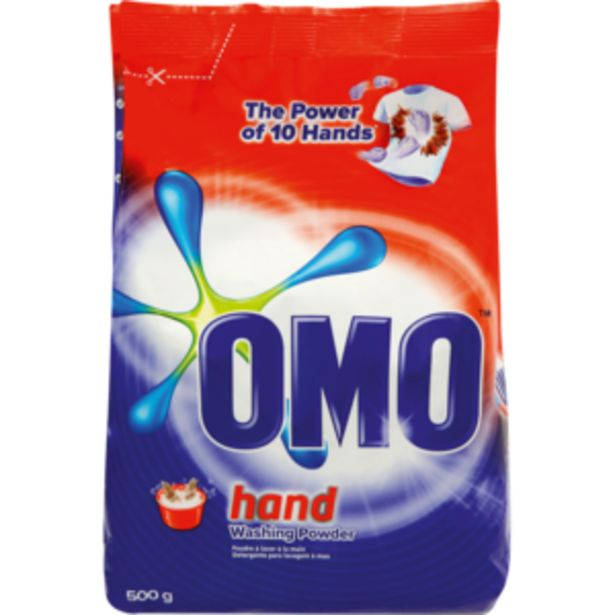 Omo Multiactive Hand Washing Powder 500g offers at R 21,99
