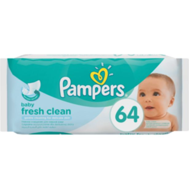 Pampers Fresh Clean Baby Wipes 64 Pack offers at R 34,99