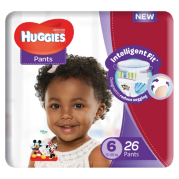 Huggies Unisex Size 6 Diaper Pants 26 Pack offers at R 119,99
