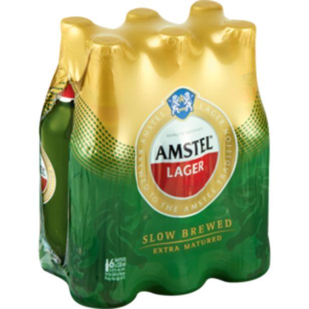 Amstel Lager Beer Bottles 6 x 330ml offers at R 69,99