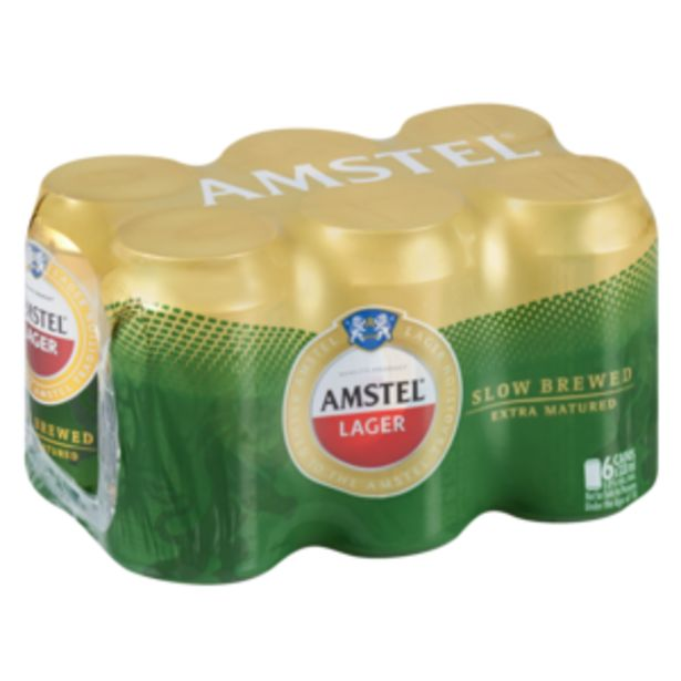 Amstel Lager Beer 6 x 330ml offers at R 69,99