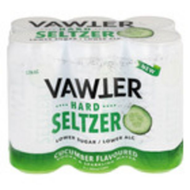 Vawter Hard Seltzer Cucumber CAN 300ml x 6 offers at R 64