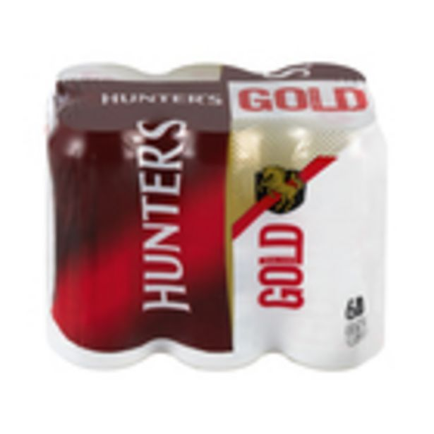 Hunters Gold Cider Can 440 ml x 6 offers at R 99,99