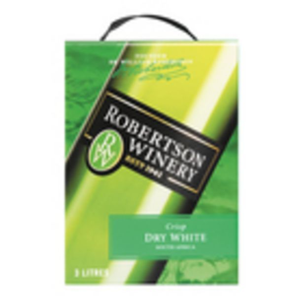 Robertson Crisp Dry White 3l offers at R 130