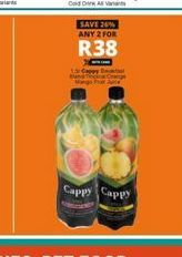Cappy Fruit Juice 2 offer at R 38