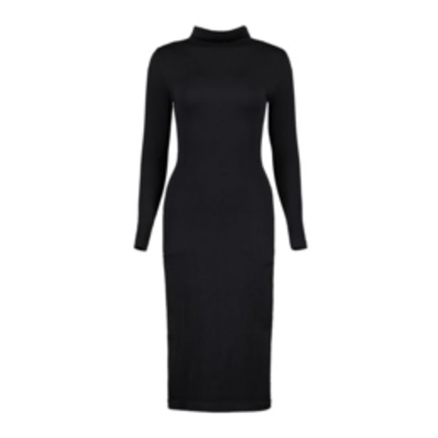 Women's Black Seamless Bodycon Dress offers at R 279,99