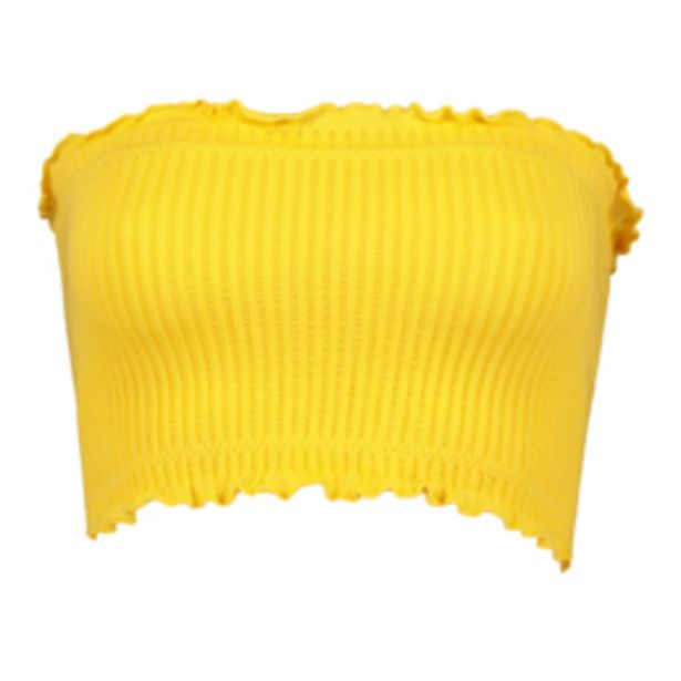 Women's Yellow Waffle Knit Bandeau offers at R 89,99