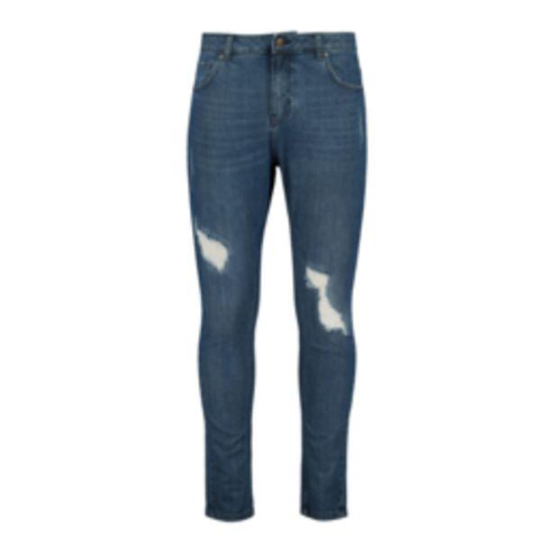 Men's Medium Wash Rip & Repair Skinny Tapered Jeans offers at R 349,99