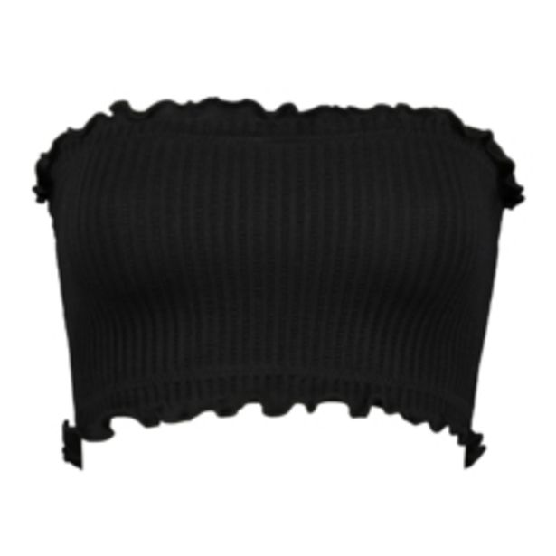 Women's Black Waffle Knit Bandeau offers at R 89,99