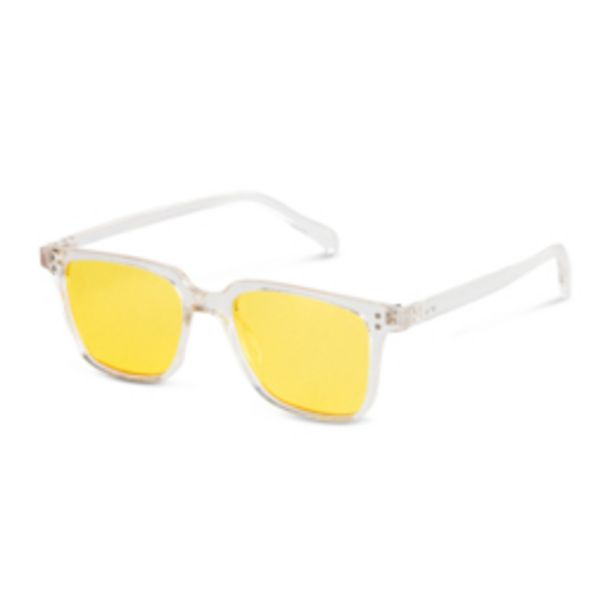 Men's Clear Frame Sunglasses with Yellow Wayferer offers at R 79,99