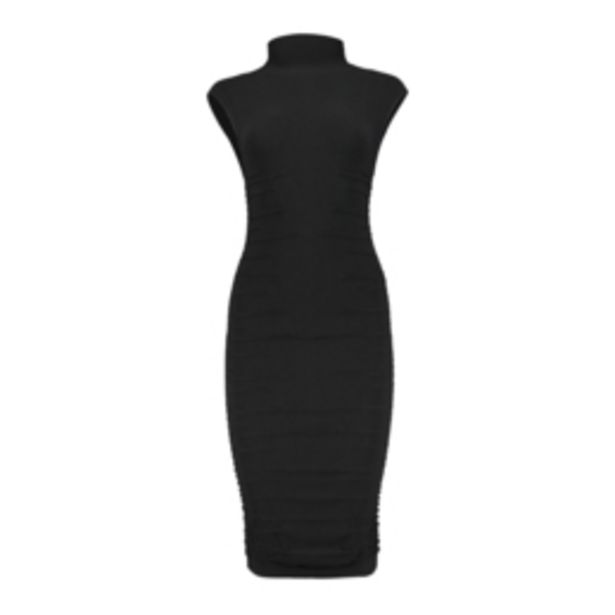 Women's Black Seamless Bodycon Ruched Dress offers at R 199,99