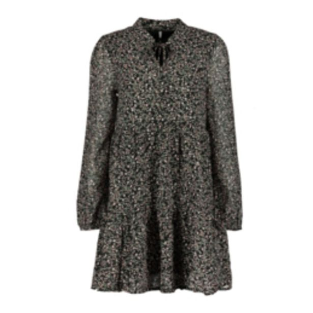 Women's Black Fit & Flare Floral Dress offers at R 349,99