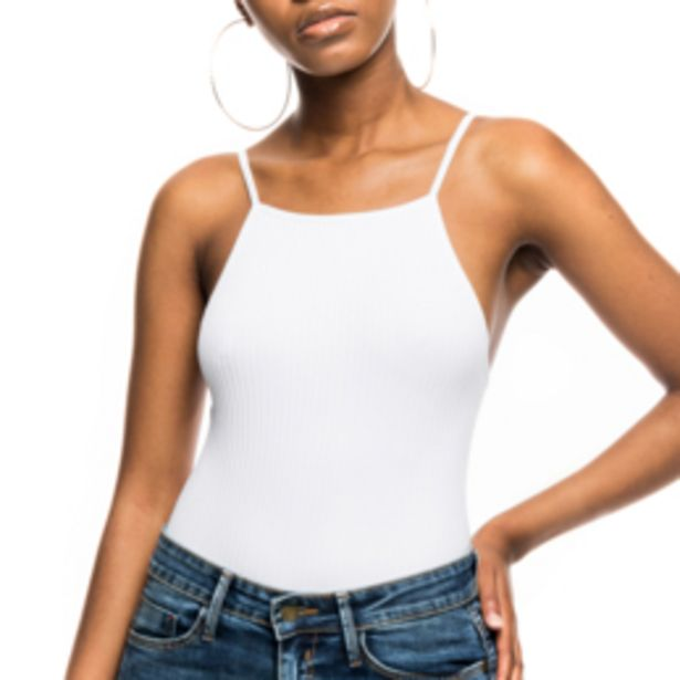 Women's White High Neck Seamless Bodysuit offers at R 129,99