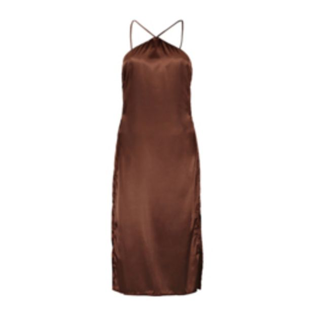 Women's Brown Satin Cami Dress offers at R 229,99