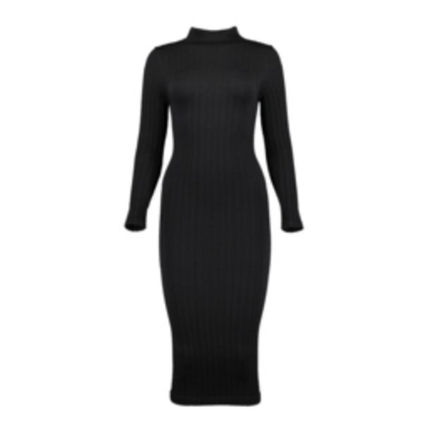 Women's Black Bodycon Seamless Dress offers at R 279,99