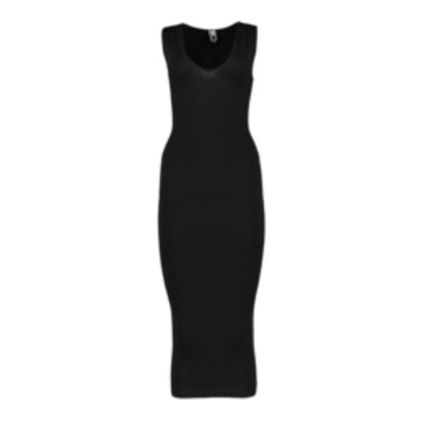 Women's Black Seamless Dress with Cut Out Detail offers at R 199,99