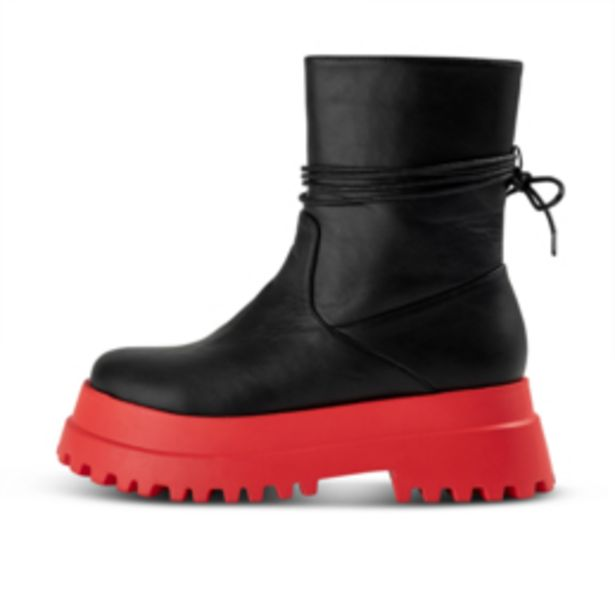 Women's Black & Red Two Tone Boot offers at R 499,99