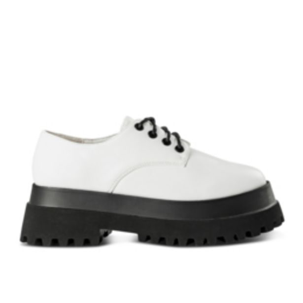 Women's White Chunky Manstyle Shoe offers at R 349,99
