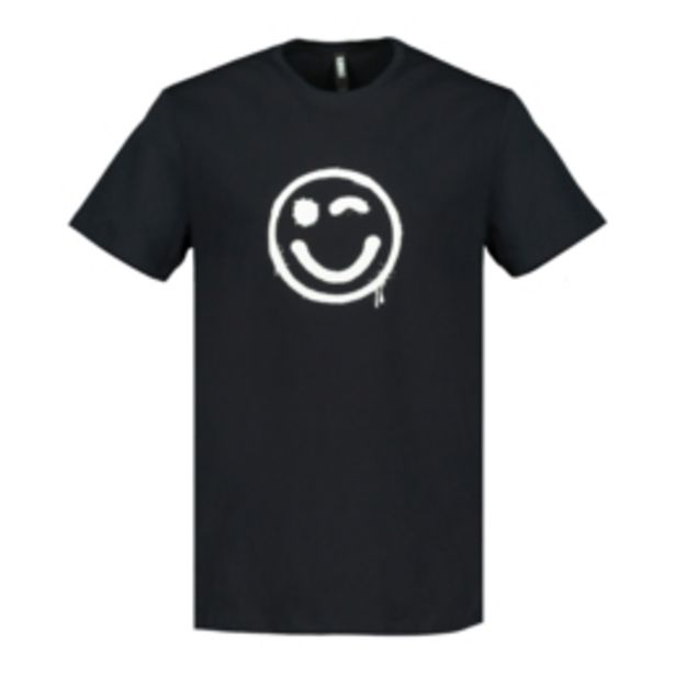 Men's Black Grafitti Wink Graphic T-Shirt offers at R 99,99