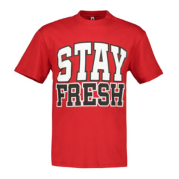 Men's Red 'Stay Fresh' Oversized T-Shirt offers at R 129,99