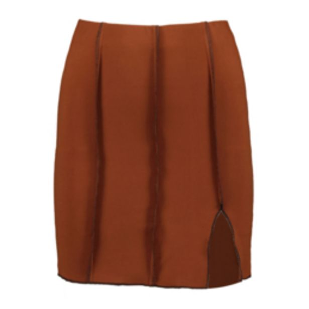Women's Tobacco Exposed Seam Co-ord Mini Skirt offers at R 99,99