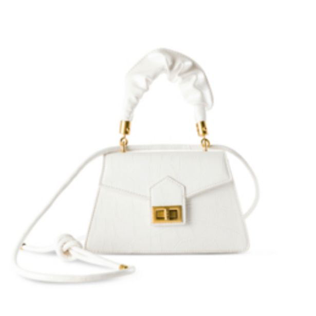 Women's White Scrunchy Handle Mini Bag offers at R 229,99
