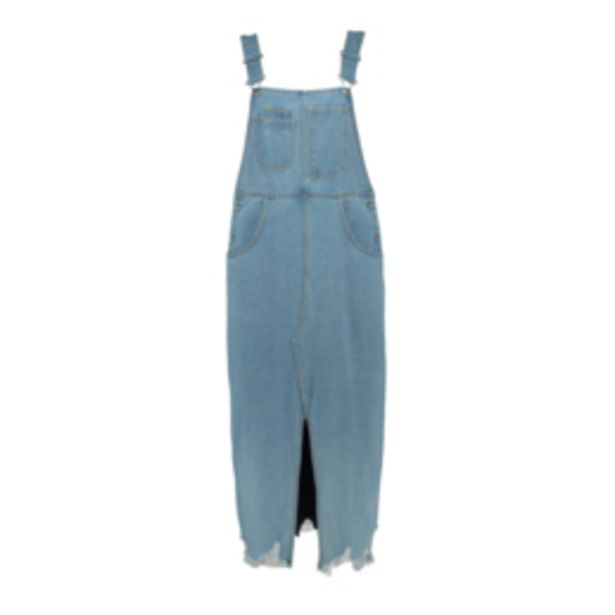 Women's Light Wash Dungaree Dress offers at R 399,99