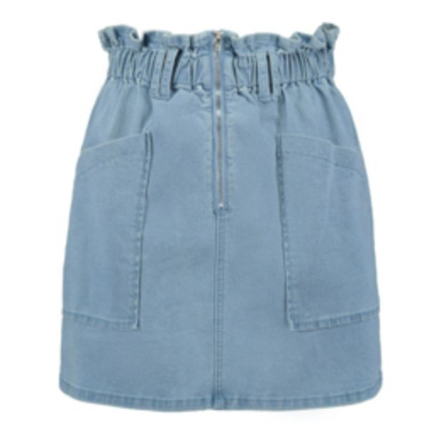 Women's Light Wash Paperbag Mini Skirt offers at R 249,99