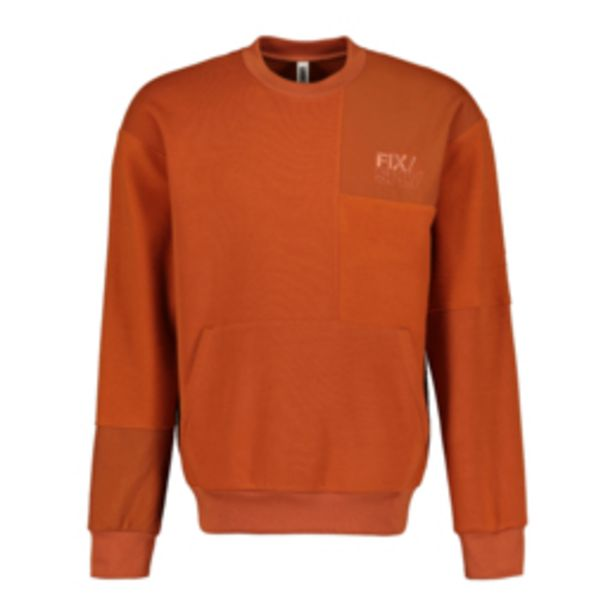 Men's Rust Patch Work Co-ord Sweat Top offers at R 249,99